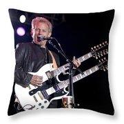 Guitarist Don Felder Throw Pillow