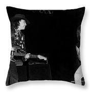 Guitarists Stevie Ray Vaughan W Jeff Beck Throw Pillow