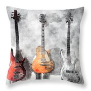 Guitars On The Wall Throw Pillow