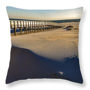 Boardwalk To The Gulf  Throw Pillow
