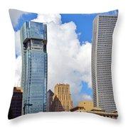 Gulf Building Houston Texas Throw Pillow