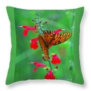 Gulf Fritillary 1 Throw Pillow