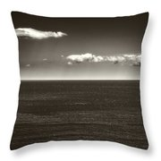 Gulf Of St Lawrence With Clouds Throw Pillow