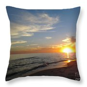 Gulf Shores Alabama Sunset2 Throw Pillow by LCS Art