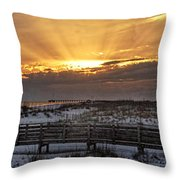 Gulf Shores From Pavilion Throw Pillow by Michael Thomas