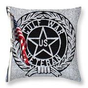 Gulf War Veteran Signage Throw Pillow by Margaret Newcomb