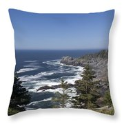 Gull Rock And Burnt Head Throw Pillow