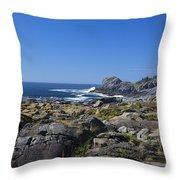 Gull Rock Throw Pillow