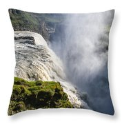 Gullfoss Iceland Throw Pillow