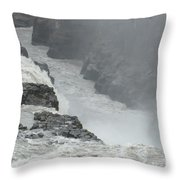 Gullfoss Waterfall Iceland Throw Pillow