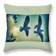 Gulls Throw Pillow