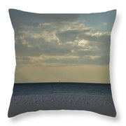 Gulls Waiting For The Storm Throw Pillow