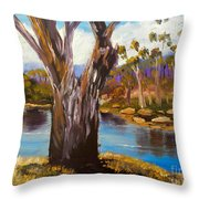 Gum Trees Of The Snowy River Throw Pillow