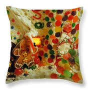 Gumdrops N Ginger Bread  Throw Pillow