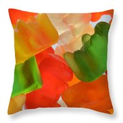 Gummy Bears Throw Pillow