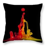 Gummy Drops Throw Pillow