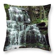 Gun Brook Falls Throw Pillow