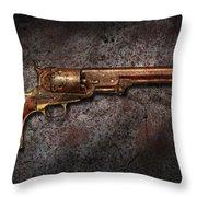 Gun - Colt Model 1851 - 36 Caliber Revolver Throw Pillow