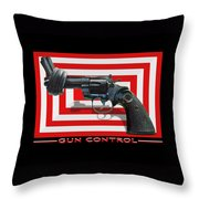 Gun Control Throw Pillow