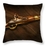 Gun - Pistols At Dawn Throw Pillow
