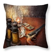 Gun - The Adventures Code  Throw Pillow by Mike Savad