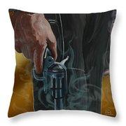 Gunfighter Throw Pillow