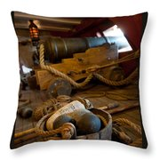 Gunnery Port Throw Pillow