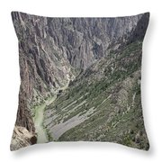 Gunnison River At The Base Of Black Canyon Of The Gunnison Throw Pillow