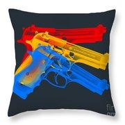 Guns Throw Pillow