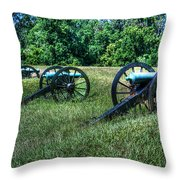 Guns Of Vicksburg Throw Pillow
