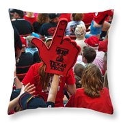 Guns-up Salute Throw Pillow