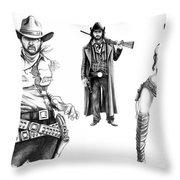 Gunslingers Throw Pillow