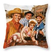 Gunsmoke Throw Pillow