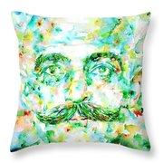 Gurdjieff- Watercolor Portrait Throw Pillow