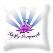 Gurupurab Greetings Throw Pillow