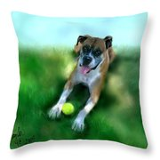 Gus The Rescue Dog Throw Pillow