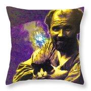 Gustav Klimts World Throw Pillow