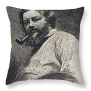Gustave Courbet Throw Pillow