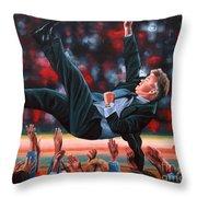 Guus Hiddink Throw Pillow