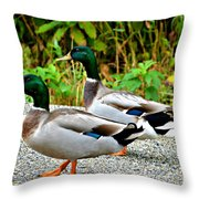 Guys Day Out On The Town Throw Pillow