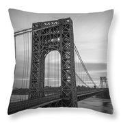 Gw Bridge Winter Sunrise Throw Pillow