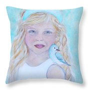 Gwyneth Little Earth Angel Of Happiness Throw Pillow