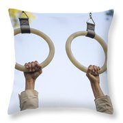 Gymnastic Rings Throw Pillow
