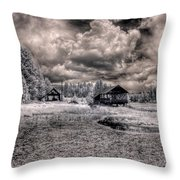 Gypsy Bay Road Lumber Mill 1 Throw Pillow