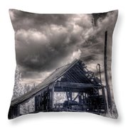 Gypsy Bay Road Lumber Mill 3 Throw Pillow