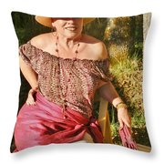 Gypsy In Cranberry Throw Pillow