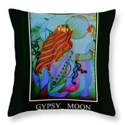 Gypsy Moon Throw Pillow