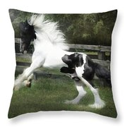 Gypsy Morning Mist Throw Pillow