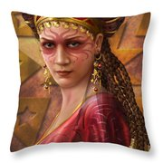 Gypsy Woman Throw Pillow by Ciro Marchetti