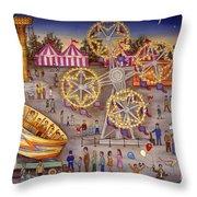 Gyro At The Carnival Throw Pillow